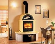 Облицована печка на дърва - 13.7 kW